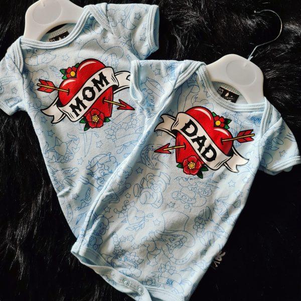 Six Bunnies Baby Vest Blue