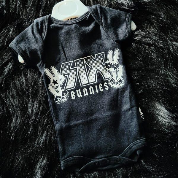 Six Bunnies Rock Group Baby Vest