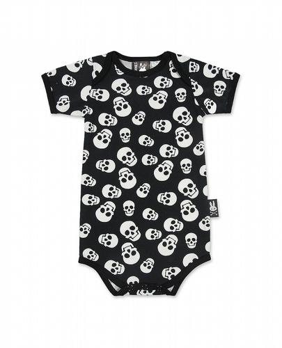 Polka Skulls Baby Vest